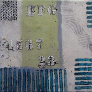 IMAGE 1099 7.5 x 7.5 Encaustic Ursula J Brenner