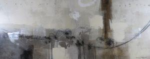 Image 4490 30x75 Canvas with Silver Leaf Ursula J Brenner