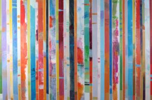 Image 4948 40x60 Canvas stripes Ursula J Brenner