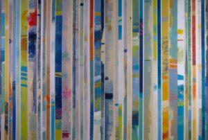 Ursula J Brenner Artwork Canvas IMG 4130 40x60 Canvas with stripes Ursula J Brenner