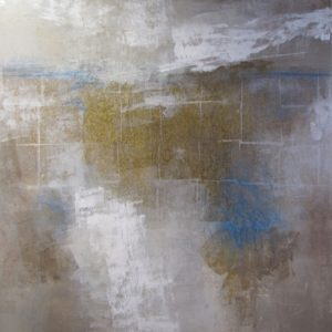 Ursula J Brenner Artwork Canvas IMG 4152 48x48 Canvas with gold leaf Ursula J Brenner